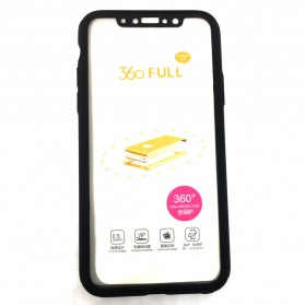 Full 360 Protector Silky Armor Case for iPhone X - Black - 4