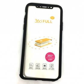 Full 360 Protector Silky Armor Case for iPhone X - Black - 5