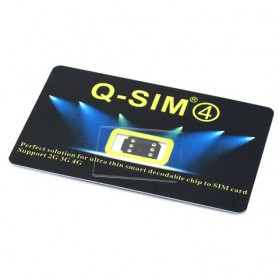 Q-SIM4 Automatic Unlock 4G LTE for iPhone