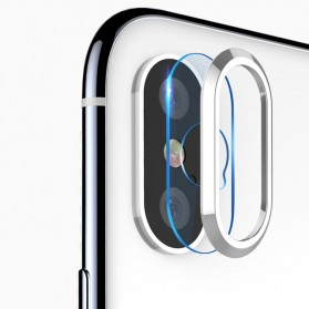 TOTU Camera Lens Tempered Glass Protector for iPhone X/XS - Silver