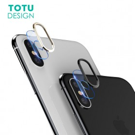 TOTU Camera Lens Tempered Glass Protector for iPhone X/XS - Silver - 2