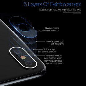 TOTU Camera Lens Tempered Glass Protector for iPhone X/XS - Silver - 3