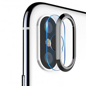 TOTU Camera Lens Tempered Glass Protector for iPhone X/XS - Gray