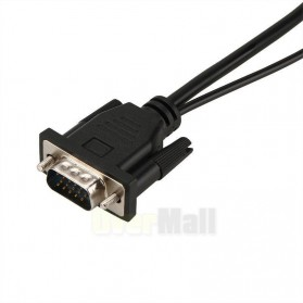 Kabel Adapter Converter VGA Male ke HDMI 1080P dengan Audio - Black - 5