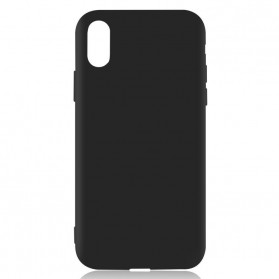 Luxury Matte Silicone TPU Case for iPhone XS Max - Black