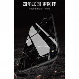Marble Creative Pattern Hard Case for iPhone XR - 7456B - Black - 2