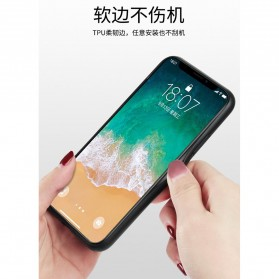Marble Creative Pattern Hard Case for iPhone XR - 7456B - Black - 4