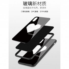 Marble Creative Pattern Hard Case for iPhone XR - 7456B - Black - 8
