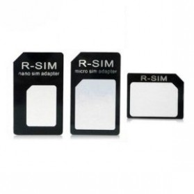3 in 1 Nano SIM Adapter with SIM Card Tray Holder - 2