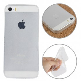 Smooth Surface Translucent TPU Case for iPhone 5/5s/SE - Transparent