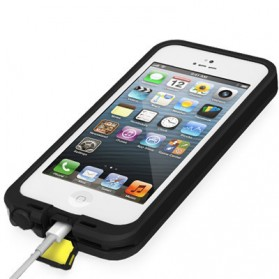 Casing Waterproof Ultra-slim untuk iPhone 5/5S/SE - Black - 4
