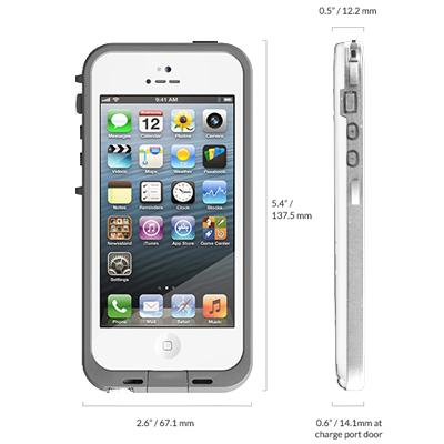 Casing Waterproof Ultra-slim untuk iPhone 5/5S/SE - White ...