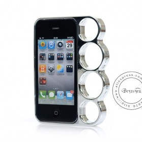 Eletroplate Phone Case Finger Ring for iPhone 5/5s - Silver