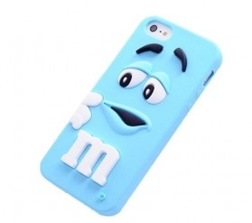 M&M TPU Case for iPhone 4/4s - Blue
