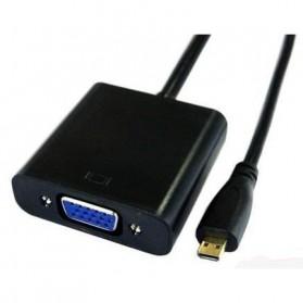 Adapter Micro HDMI ke VGA dengan Port Audio - H76 - Black - 3