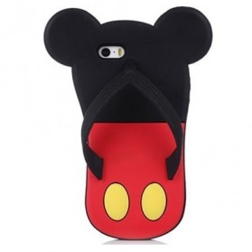 Cartoon Slipper TPU Case for iPhone 5/5s - Black/Red