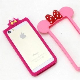 Cute Little Bat Silicone Soft Bumper Case for iPhone 4/4s - Purple