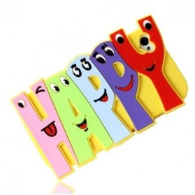 Happy Letter TPU Case for iPhone 5/5s - Black