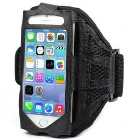 Mesh Cloth Material Sports Armband Case for iPhone 5/5s/SE - ZE-AD105 - Black