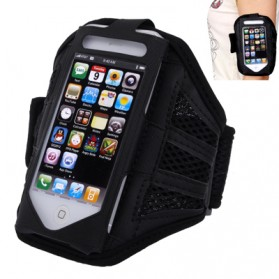 Mesh Cloth Material Sports Armband Case for iPhone 6 - ZE-AD108 - Black