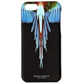 Marcelo Burlon Angel Feather TPU Case for iPhone 5/5s/SE - Black/Blue