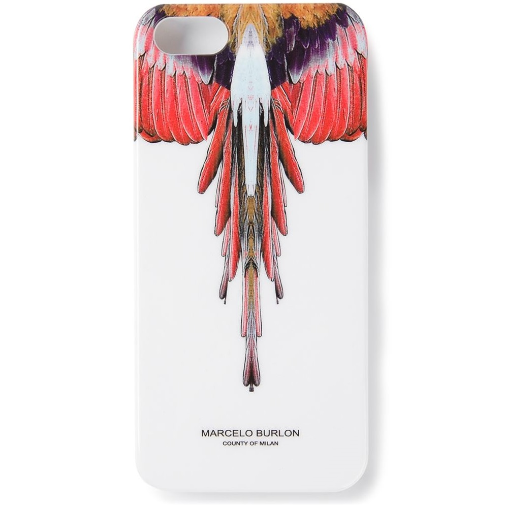 Marcelo Burlon Angel Feather Hard Case For Iphone 6 Whitered