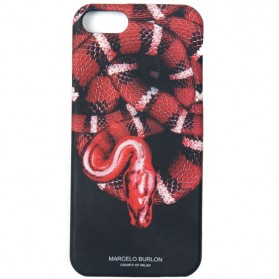 Marcelo Burlon Python Snake TPU Case for iPhone 6 - Black/Red