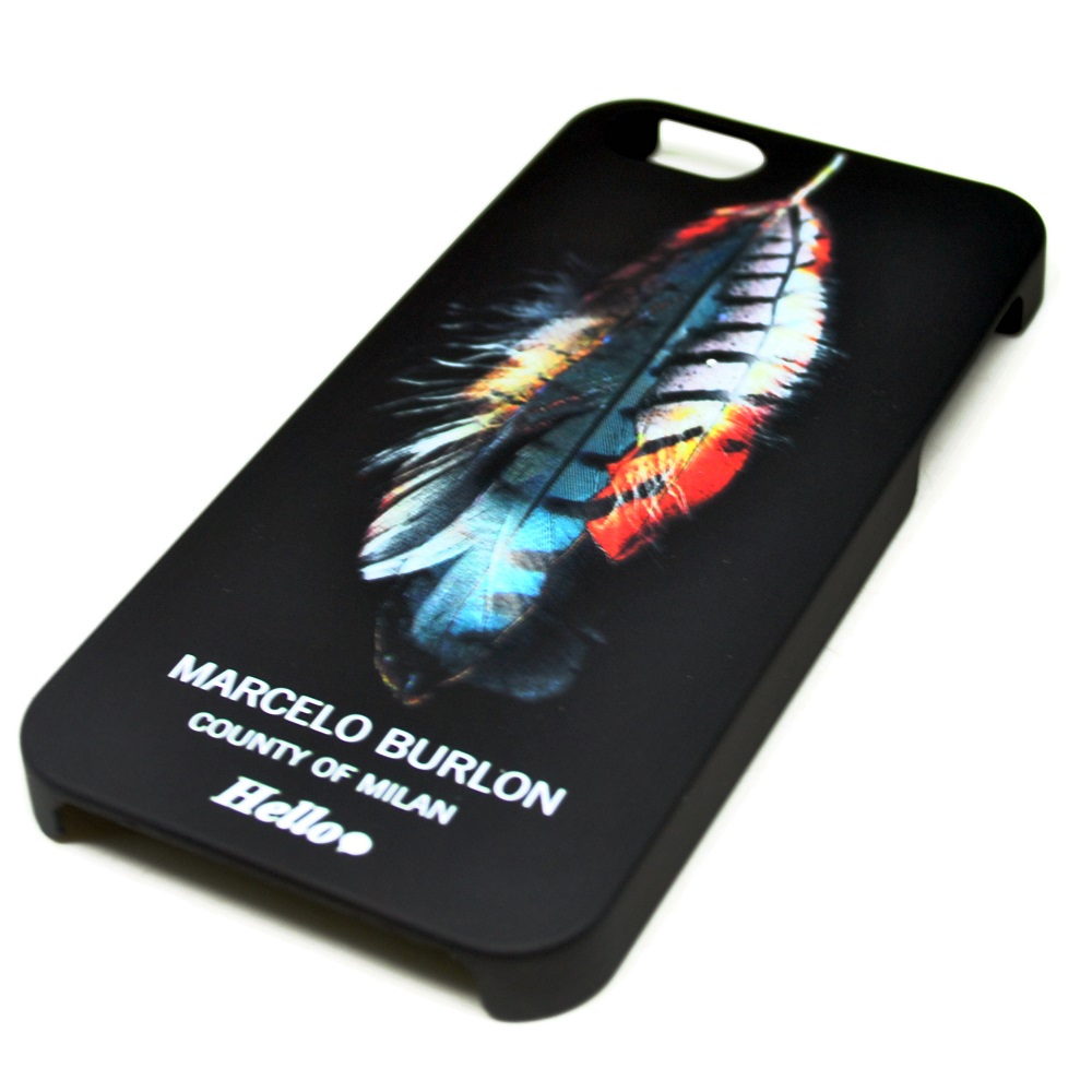 Marcelo Burlon Wing Feather Tpu Case For Iphone 55sse Black
