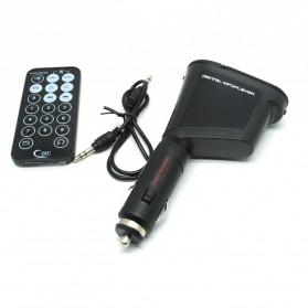 Taffware Car Kit MP3 Player FM Transmitter + USB SD Card Slot - FM-618 - Black - 2