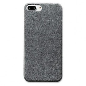 SoCouple Cloth Tekstur TPU Softcase for iPhone 7/8 - Gray