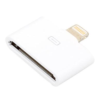 apple 30 pin to 8 pin lightning converter adapter white. Black Bedroom Furniture Sets. Home Design Ideas