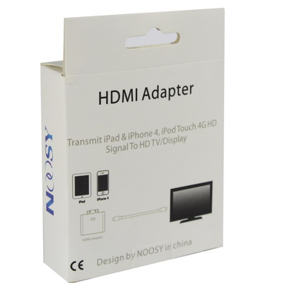 iphone to hdmi. hdmi adapter for iphone 4, ipad, 3g/3gs, iphone to hdmi