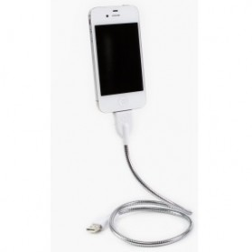 Smartphone Stand & Car Holder - Fuse Chicken Une Bobine Charging Dock Lightning Pin for iPhone 5/6 - Silver