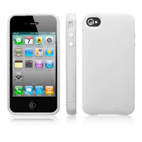 SGP Ultra Silke R Series Silicone Case for iPhone 4 & 4S (Replika 1:1) - White