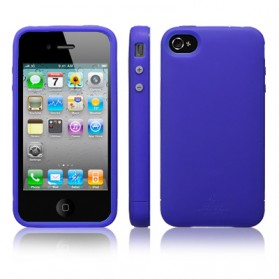 SGP Ultra Silke R Series Silicone Case for iPhone 4 & 4S (Replika 1:1) - Blue - 1