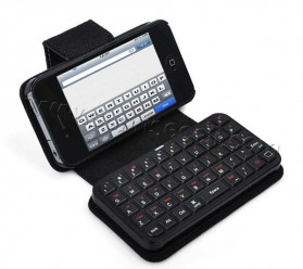 Mini Bluetooth Keyboard Case for Iphone 4 & 4S - 1