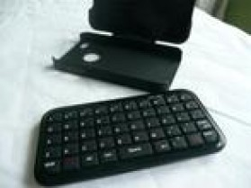 Mini Bluetooth Keyboard Case for Iphone 4 & 4S - 2