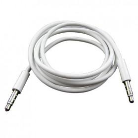 Kabel Audio AUX Stereo 3.5mm HiFi 1 Meter Untuk iPhone 4 - White