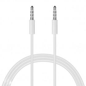 Kabel Audio AUX Stereo 3.5mm HiFi 1 Meter Untuk iPhone 4 - White - 2
