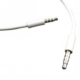Kabel Audio AUX Stereo 3.5mm HiFi 1 Meter Untuk iPhone 4 - White - 3