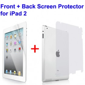 Front + Back Full Body Screen Protectors with Scratch Card for iPad 2