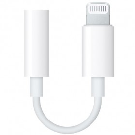 Apple Adapter Lightning to 3.5mm AUX Female for iPhone 7/8/X Original - White