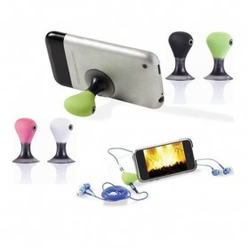 Smartphone Stand & Car Holder - 3.5mm Headphone Splitter Jack Adapter + Stand for iPod & iPhone - Green