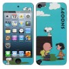 2 in 1(Front+Back) Snoopy Pattern With Dishcloth Protective Skin Sticker for iPod Touch 5th