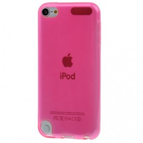 Transparent Smooth TPU Case for iPod Touch 5 - Pink