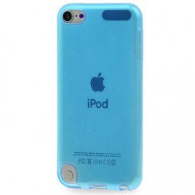 Transparent Smooth TPU Case for iPod Touch 5 - Blue