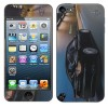 2 in 1(Front+Back) Car Pattern With Dishcloth Protective Skin Sticker for iPod Touch 5th