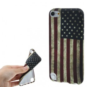 Retro Flag Style TPU Case for iPod Touch 5