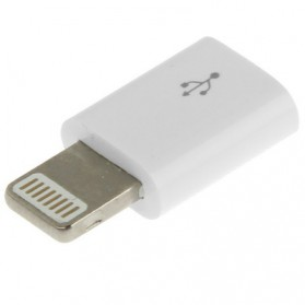 Micro USB Female to Lightning 8 Pin Adapter for iPhone - White - 2