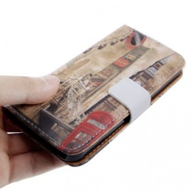 London Building Style Leather Case for iPhone 5/5s - Chocolate